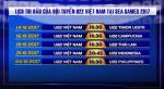 Lich thi dau U22 Viet Nam tai Sea Games 29