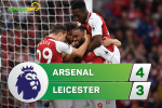 Tong hop: Arsenal 4-3 Leicester (Vong 1 NHA 2017/18)