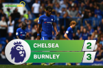 Tong hop: Chelsea 2-3 Burnley (Vong 1 NHA 2017/18)
