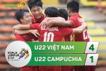 Tổng hợp: U22 Việt Nam 4-1 U22 Campuchia (Sea Games 29)