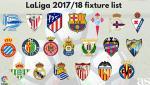 Lịch thi đấu vòng 1 La Liga Tây Ban Nha mùa giải 17/18