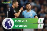 Tong hop: Man City 1-1 Everton (Vong 2 NHA 2017/18)