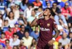 Tong hop: Getafe 1-2 Barca (Vong 4 La Liga 2017/18)
