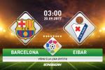 Barca 6-1 Eibar (KT): Thien tai Messi choi poker, huy diet doi khach toi nghiep