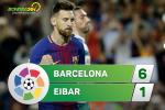 Tổng hợp: Barca 6-1 Eibar (Vòng 5 La Liga 2017/18)