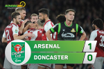 Tong hop: Arsenal 1-0 Doncaster (Vong 3 cup Lien doan Anh 2017/18)