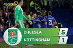 Tổng hợp: Chelsea 5-1 Nottingham (Vòng 3 Cúp Liên đoàn Anh 2017/18)