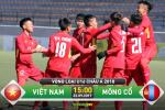 TRỰC TIẾP U16 Việt Nam vs U16 Mông Cổ 15h00 ngày 22/9 (VL U16 châu Á 2018)