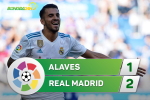 Tong hop: Alaves 1-2 Real Madrid (Vong 6 La Liga 2017/18)