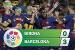 Tổng hợp: Girona 0-3 Barca (Vòng 6 La Liga 2017/18)
