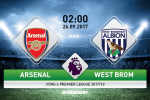 Nhan dinh Arsenal vs West Brom 02h00 ngay 26/9 (Premier League 2017/18)