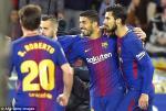 Tổng hợp: Sociedad 2-4 Barcelona (Vòng 19 La Liga 2017/18)