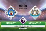 Man City 3-1 Newcastle (KT): Aguero lap hattrick, Man xanh tai lap khoang cach 12 diem voi Man do
