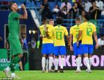 Video tong hop: Saudi Arabia 0-2 Brazil (Giao huu quoc te)