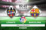 Levante 0-5 Barca (KT): Te tuong Messi lap hattrick, nha vua La Liga bat nat doi bong dan em