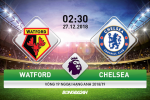 Watford 1-2 Chelsea (KT): Hazard lap dai cong, The Blues bao ve vi tri thu 4