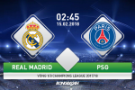 Real Madrid vs PSG (02h45 ngay 15/2): Vuot mat Nha vua