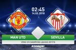 Ket qua MU vs Sevilla tran dau vong 1/8 Champions League dem nay