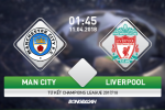 Ket qua Man City vs Liverpool tran dau tu ket Champions League 2017/18