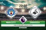 Kết quả Man City vs Swansea trận đấu vòng 35 Premier League 2017/18