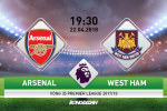 TRỰC TIẾP Arsenal vs West Ham 19h30 ngày 22/4 (Premier League 2017/18)