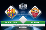 Barcelona vs AS Roma (1h45 ngay 5/4): Nghien hy vong thanh cat bui
