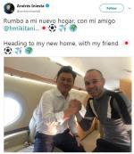 Iniesta xác nhận chuẩn bị làm đồng đội của Lukas Podolski