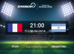 Ket qua Phap vs Argentina tran dau vong 1/8 World Cup 2018