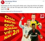 Bundesliga gay bat ngo khi chuc mung ngay quoc khanh Viet Nam