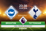 TRỰC TIẾP Brighton 0-1 Tottenham (H1): Kane khai thông bế tắc
