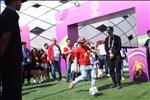 VIDEO: Khong khi khu fanzone ben ngoai SVD to chuc tran dau Viet Nam vs Jordan
