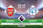 Arsenal 2-1 Cardiff (KT): Phao thu ap sat Top 4