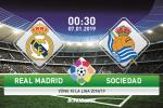 Real Madrid 0-2 Sociedad (KT): Thua nhuc ngay tai Bernabeu, Los Blancos roi khoi Top 4