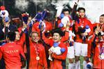 ẢNH: Thầy trò HLV Park Hang Seo ăn mừng tấm HCV SEA Games lịch sử
