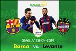 Barca 1-0 Levante: Len tieng tu ghe du bi, Messi giup Barca chinh thuc vo dich La Liga 2018/19