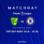 Xem truc tiep bong da Norwich vs Chelsea toi nay o kenh song nao ?