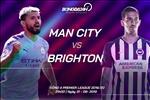 Man City 4-0 Brighton (KT): Thang tung bung, Man xanh tiep tuc pha hoi nong vao gay Liverpool