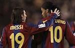 Ronaldinho: 'Messi toa sang o Barca khong lien quan gi den toi'