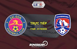 Xem truc tiep Sai Gon vs Than Quang Ninh hom nay 1/10 tren kenh nao?