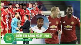 DIEM TIN BONG DA SANG 01/10: Bayern lanh lung gianh sieu Cup Duc; Thanh Manchester vao tu ket League Cup