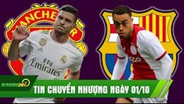 TIN CHUYEN NHUONG 1/10: Sao Real cong khai to tinh MU; Barca sap co sao tre Ajax