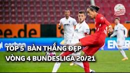 VIDEO: 5 ban thang dep nhat vong 4 Bundesliga 2020/21