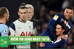 DIEM TIN SANG 19/10: Tottenham bi cam hoa kho tin ngay Bale ra mat; Mbappe gay to truoc dai chien