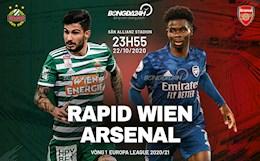 Truc tiep bong da Rapid Wien 1-0 Arsenal (H1): Chu nha mo ty so