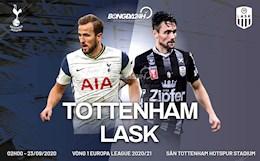 Truc tiep bong da Tottenham vs LASK 2h00 ngay 23/10