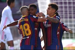 Ansu Fati giup Barca can moc an tuong truoc Real