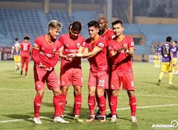 Tien Linh an mung cuc chat sau khi danh dau tung luoi Ha Noi FC