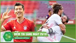DIEM TIN SANG 25/10: Real danh sap phao dai Camp Nou; Lewandowski len dong, Bayern ha sat doi thu