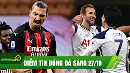 DIEM TIN SANG 27/10: Ibra lap cu dup, Milan van dut mach thang; Son toa sang, Spurs thang nhe