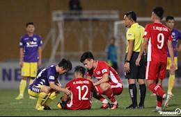 Bùi Tiến Dũng đầy thương tích sau trận gặp Hà Nội